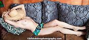 Fashion portfolio photos of Christy Garan at her house.