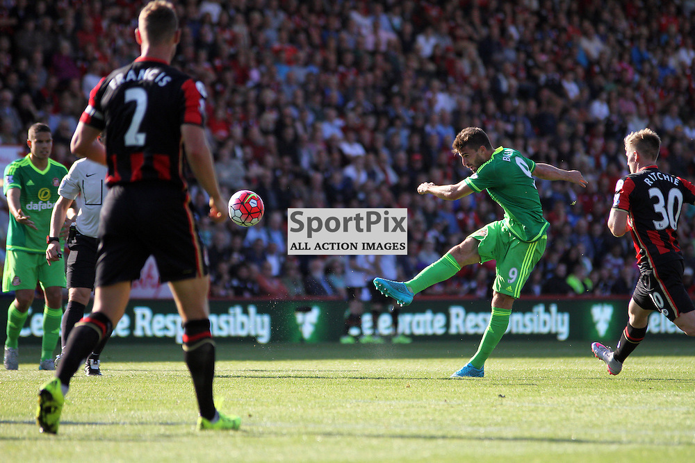 Fabio Borini has an audacious effort from range During Bournemouth vs Sunderland on Saturday 19th September 2015.