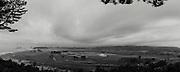 nuclear waste dumps in fukushima Futaba-shi ,  Nahara ( composite panorama)
