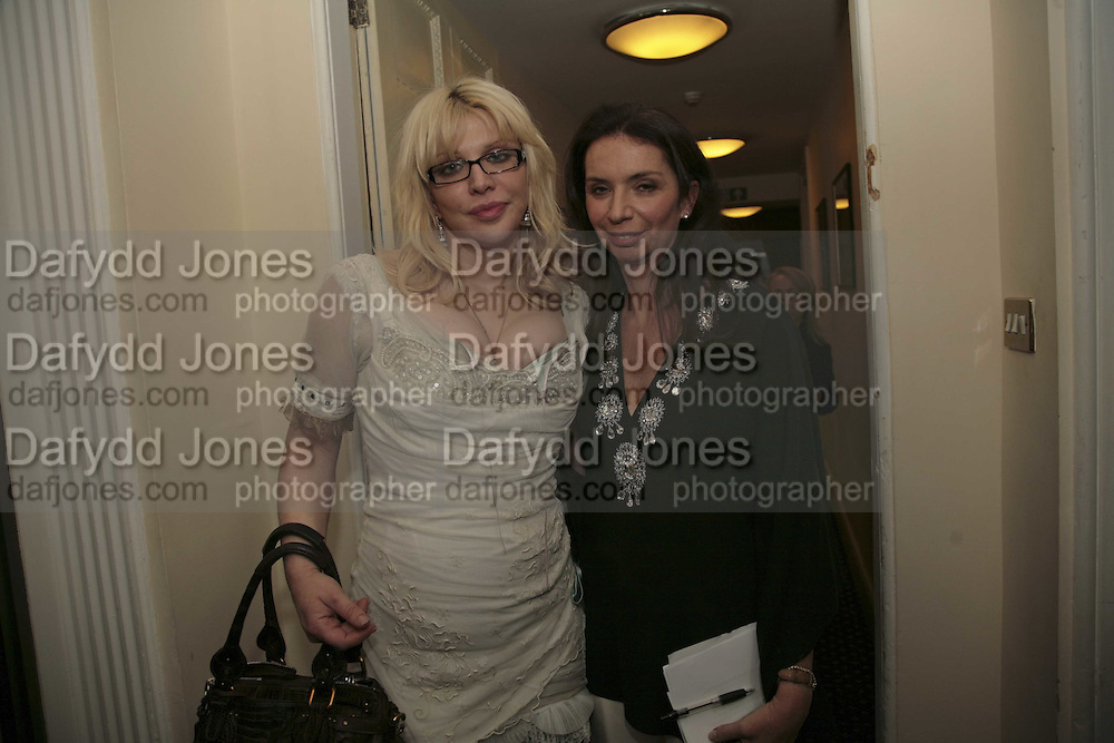 COURTNEY LOVE AND NANCY SLADEK, Literary Review's Bad Sex In Fiction Prize.  In & Out Club (The Naval & Military Club), 4 St James's Square, London, SW1, 29 November 2006. <br />