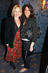 Left to right, MARIELLA FROSTRUP and actress GINA BELLMAN at a gala evening preview of Noel Coward's play Hay Fever in aid of Masterclass at The Theatre Royal, Haymarket, London on 26th April 2006.<br />