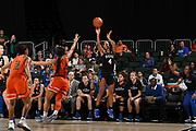 December 31, 2017: Lexie Brown #4 of Duke in action during the NCAA basketball game between the Miami Hurricanes and the Duke Blue Devils in Coral Gables, Florida. The 'Canes defeated the Blue Devils 51-48.