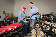 01/14/2016 123346 -- Garland, TX -- &copy; Copyright 2016 Mark C. Greenberg<br /> <br /> CEO Alex Keechle and President and COO Rick Sukkar of Garland, Texas based Monster Moto.