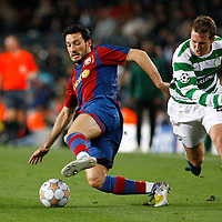 Barcelona V Celtic.Champion's League.Nou Camp, Barcelona..Gianluca Zambrotta and Aidan McGeady