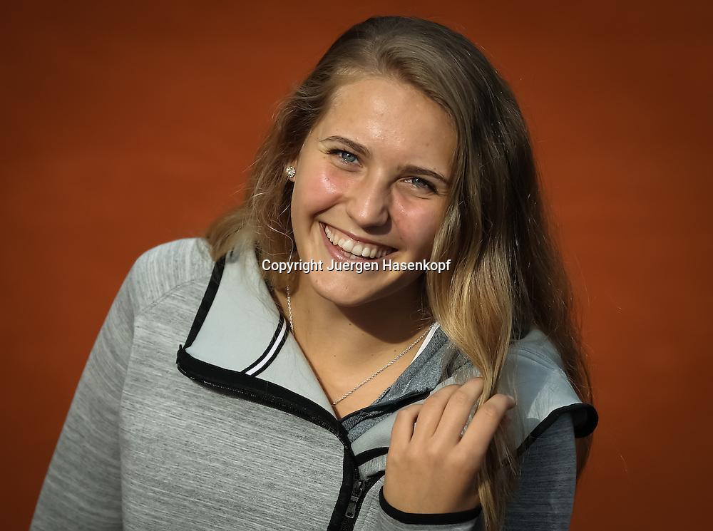 Tennis Profi Antonia Lottner (GER),Einzelbild,Halbkoerper,Querformat,<br /> Portrait,privat