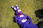 UNITED KINGDOM, London: 27-28 May 2017 A cosplay fan takes a tumble outside the MCM London Comic Con. <br /> The comic convention, which will be visited by tens of thousands of comic book and cosplay fans, is being held at London's ExCel this weekend. Rick Findler / Story Picture Agency