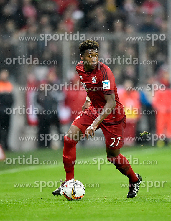 31.01.2016, Allianz Arena, Muenchen, GER, 1. FBL, FC Bayern Muenchen vs TSG 1899 Hoffenheim, 19. Runde, im Bild David Alaba FC Bayern Muenchen am Ball // during the German Bundesliga 19th round match between FC Bayern Munich and TSG 1899 Hoffenheim at the Allianz Arena in Muenchen, Germany on 2016/01/31. EXPA Pictures &copy; 2016, PhotoCredit: EXPA/ Eibner-Pressefoto/ Weber<br /> <br /> *****ATTENTION - OUT of GER*****