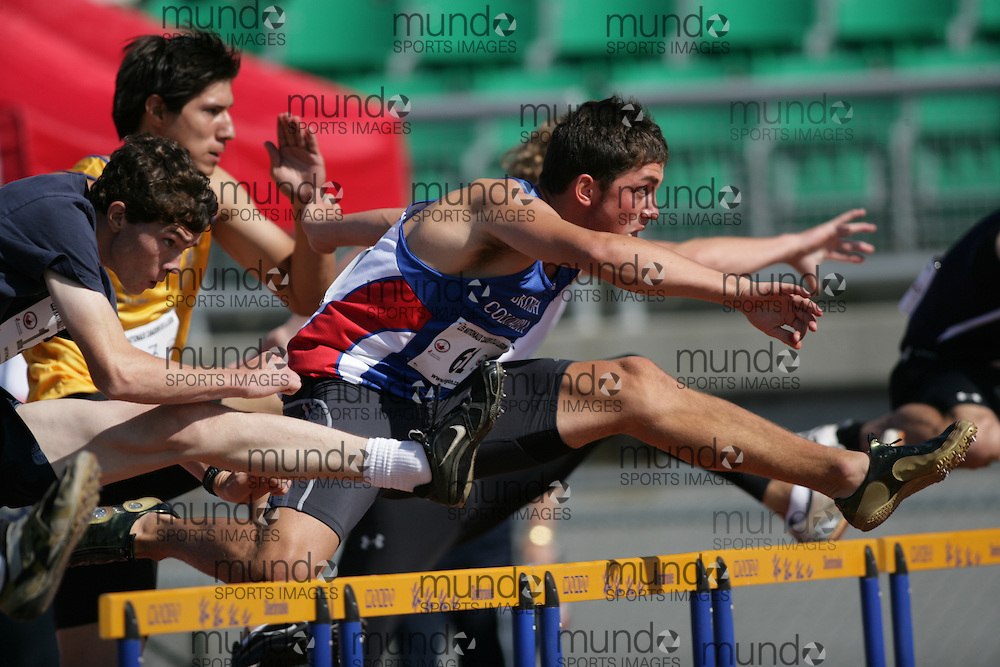 (Sherbrooke, Quebec -- 8 Aug 2009)  Sebastian Munro of British Columbia competes in  at the 2009 Royal Canadian Legion National Youth track and field championships. Photograph copyright Sean Burges / Mundo Sport Images  2009.