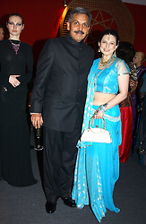 "MR SHIRISH APTE and his wife SAVITA at the 10th annual British Red Cross London Ball.  This years ball theme was Indian based - ""Yaksha - Yakshi: Doorkeepers to the Divine"" and was held at The Room, Upper Ground, London on 1st December 2004.  Proceeds from the ball will aid vital humanitarian work, including HIV/AIDS projects that the Red Cross supports in the UK and overseas.<br />