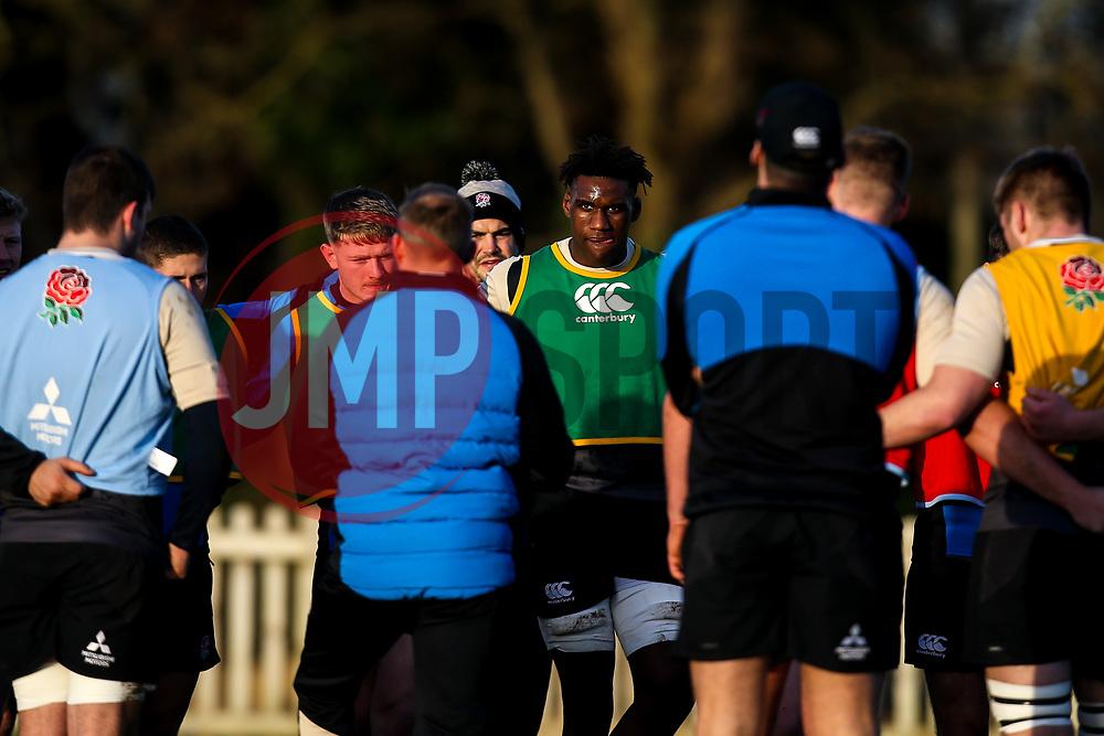 Joel Kpoku of England Under 20s - Mandatory by-line: Robbie Stephenson/JMP - 08/01/2019 - RUGBY - Bisham Abbey National Sports Centre - Bisham Village, England - England Under 20s v  - England Under 20s Training