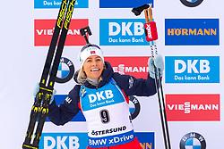 March 10, 2019 - –Stersund, Sweden - 190310 Tiril Eckhoff of Norway celebrates after the Women's 10 km Pursuit during the IBU World Championships Biathlon on March 10, 2019 in Östersund..Photo: Petter Arvidson / BILDBYRÃ…N / kod PA / 92254 (Credit Image: © Petter Arvidson/Bildbyran via ZUMA Press)