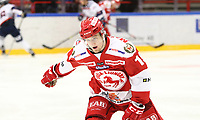 2018-11-14 | Ljungby, Sweden: Troja-Ljungby (19) Adam Byström-Johansson during the game between Troja Ljungby and Mörrums GoIS at Ljungby Arena ( Photo by: Fredrik Sten | Swe Press Photo )<br /> <br /> Keywords: Icehockey, Ljungby, HockeyEttan, Troja Ljungby, Mörrums GoIS, Ljungby Arena div1, division, troja, ljungby, mörrum, gois,