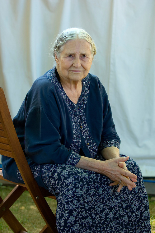 EDINBURGH, SCOTLAND - AUGUST14. Author Doris Lessing  poses during a portrait session held at Edinburgh Book Festival on August 14, 2006  in Edinburgh, Scotland. (Photo by Marco Secchi/Getty Images).