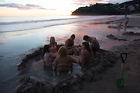 hotwater beach coromandel peninsula sunrise photos