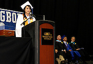 Katie Chrisman speaks during the 119th annual Springboro High School commencement at the Nutter Center in Fairborn, Saturday, June 2, 2012.