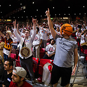 22 December 2018: The Show came out in full force Saturday afternoon to watch the Aztecs beat the Cougars 90-81 at Viejas Arena.