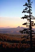 Wilderness landscape near Crater Lake in Oregon.