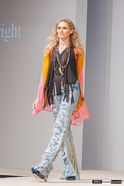 Brooke Lynn Wright showing their collection at Fashion Week New Orleans.