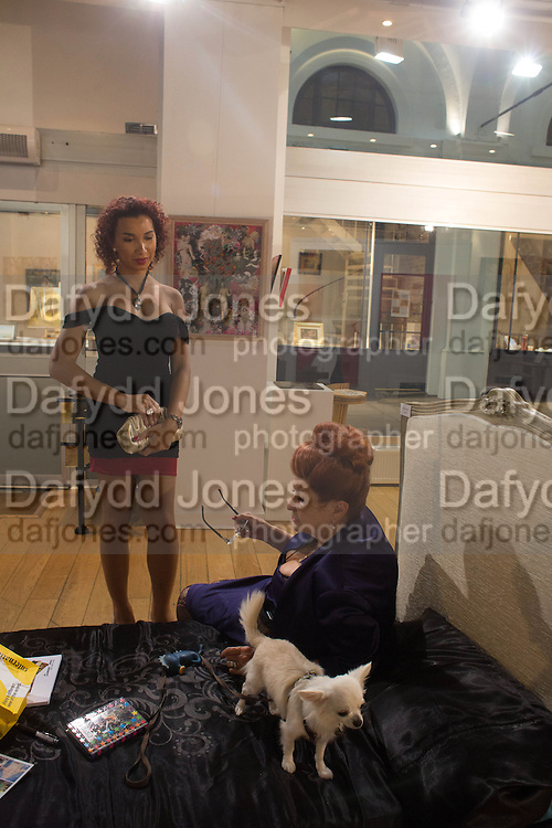 IMANNI DA SILVA; LADY SANDRA BATES; ANGEL, Lady  Sandra Bates and Jason Bradbury host 'Lust' a mixed exhibition. La Galleria. Pall Mall.  London 3 September 2013.