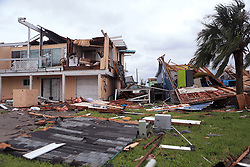 Homes in the Key Allegro subdivision on Monday, August 28, 2017 in Rockport, Texas, USA. Property managers were checking Monday to make sure residents were the only ones going into the heavily damaged subdivision.<br /> Photo by Rachel Denny Clow/Corpus Christi Caller-Times/TNS/ABACAPRESS.COM