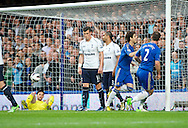 Picture by Alan Stanford/Focus Images Ltd +44 7915 056117.08/05/2013.Oscar of Chelsea celebrates his goal during the Barclays Premier League match at Stamford Bridge, London..