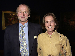 MR & MRS SIMON PARKER BOWLES, he is the former brother in law of Camilla Parker Bowles, at a reception in London on 27th September 2000.OHJ 45