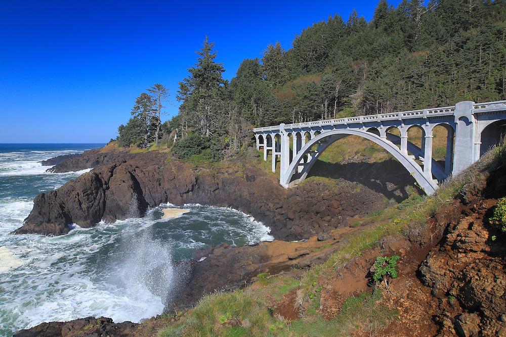 Ben Jones Bridge - Highway 101 - Oregon Coast