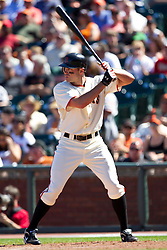 May 30, 2010; San Francisco, CA, USA;  San Francisco Giants right fielder Nate Schierholtz (12) at bat against the Arizona Diamondbacks during the eighth inning at AT&T Park.  San Francisco defeated Arizona 6-5 in 10 innings.