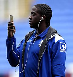 Birmingham City's Clayton Donaldson takes pictures on his phone - Photo mandatory by-line: Robbie Stephenson/JMP - Mobile: 07966 386802 - 22/04/2015 - SPORT - Football - Reading - Madejski Stadium - Reading v Birmingham City - Sky Bet Championship