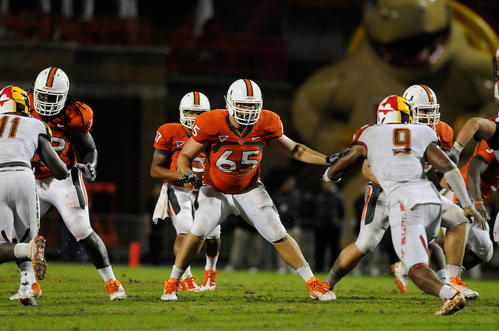 2011 Miami Hurricanes Football @ Maryland<br /> <br /> Brandon Linder