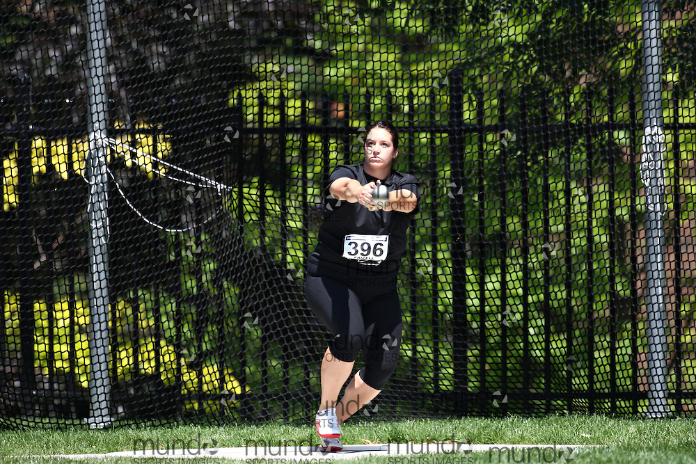 (Toronto, Ontario---27/06/09)   Sultana Frizell competing in  women's hammer throw at the 2009 Canadian National Track and field Championships. Photograph copyright Claus Andersen / Mundo Sport Images, 2009. www.mundosportimages.com / www.msievents.