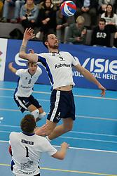 20181103 NED: Eredivisie, Sliedrecht Sport - Abiant Lycurgus: Sliedrecht<br />Michael van Leeuwe (4) of Sliedrecht Sport<br />©2018-FotoHoogendoorn.nl / Pim Waslander