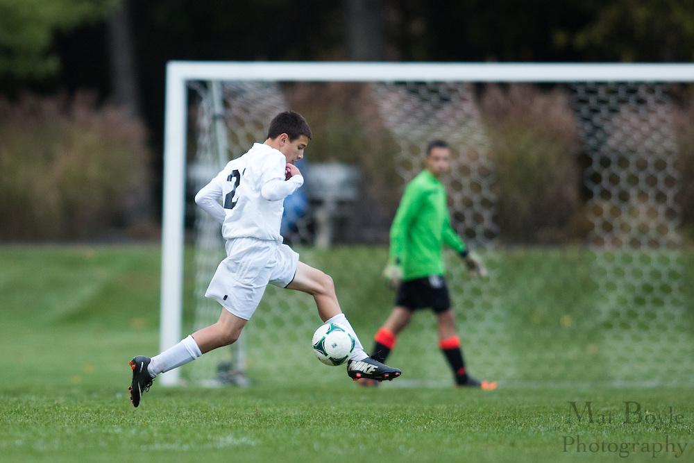 Pitman High School Boys Soccer vs. Clayton High School at Alcyon Park in Pitman, NJ on Thursday October 24, 2013. (photo / Mat Boyle)