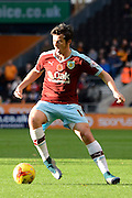 Burnley midfielder Joey Barton during the Sky Bet Championship match between Wolverhampton Wanderers and Burnley at Molineux, Wolverhampton, England on 7 November 2015. Photo by Alan Franklin.