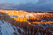 Sunset at Bryce Canyon National Park from Inspiration Point