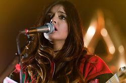 © Licensed to London News Pictures. 01/03/2014. London, UK.   Natalie BangBang performing live at Hammersmith Apollo, supporting headliner Rizzle Kicks.   Photo credit : Richard Isaac/LNP