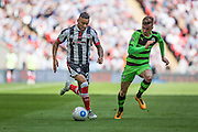 Grimsby Town's Nathan Arnold on the ball during the Conference Premier Final match between Forest Green Rovers and Grimsby Town FC at Wembley Stadium, London, England on 15 May 2016. Photo by Shane Healey.