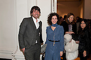 ALEX JAMES; MOLLIE DENT-BROCKLEHURST, - THE LAUNCH OF THE KRUG HAPPINESS EXHIBITION AT THE ROYAL ACADEMY, London. 12 December 2011.