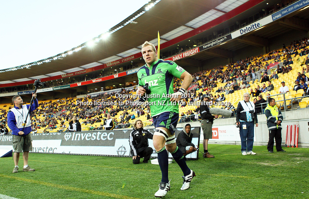 Highlanders' James Haskell during the 2012 Super Rugby season, Hurricanes v Highlanders at Westpac Stadium, Wellington, New Zealand on Saturday 17 March 2012. Photo: Justin Arthur / Photosport.co.nz
