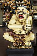 Balinese statue at Tanah Lot Temple, Bali, Indonesia