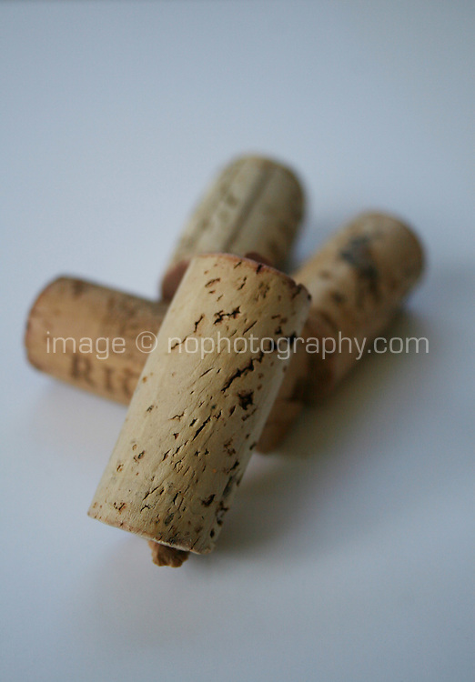 Wine corks stacked