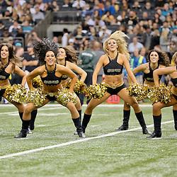 Dec 27, 2015; New Orleans, LA, USA; New Orleans Saints Saintsations during the second quarter of a game against the Jacksonville Jaguars at the Mercedes-Benz Superdome. Mandatory Credit: Derick E. Hingle-USA TODAY Sports