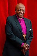 Desmond Tutu received by Prince Albert II