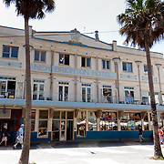 New Brighton Hotel in Manly. Manly Beach during Australia Day. Manly Beach