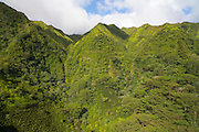 Aerial, ridges, Manoa Valley,Honolulu, Oahu, Hawaii