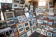Quirky small photo gallery and museum at Alton Barnes, Wiltshire, England