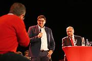 Mannheim. 19.09.17 | SPD-Kanzlerkandidat Martin Schulz im Capitol Mannheim.<br /> Im Wahlkampf zur Bundestagswahl unterstützt Kanzlerkandidat Martin Schulz Mannheims SPD Bundestagsabgeordneter Stefan Rebmann.<br /> <br /> <br /> BILD- ID 2388 |<br /> Bild: Markus Prosswitz 19SEP17 / masterpress (Bild ist honorarpflichtig - No Model Release!)