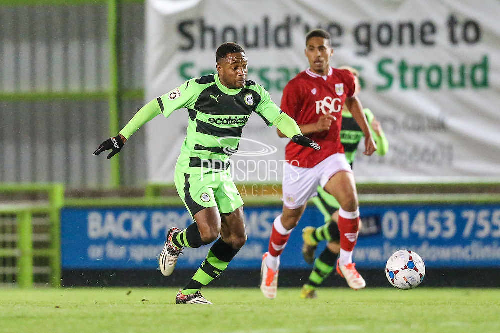 Forest Green Rovers Aaron O'Connor during the The County Cup match between Forest Green Rovers and Bristol City at the New Lawn, Forest Green, United Kingdom on 23 November 2015. Photo by Shane Healey.