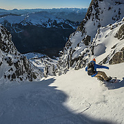 Eric Poulin drops into a quick afternoon DOA lap off the back of Blackcomb