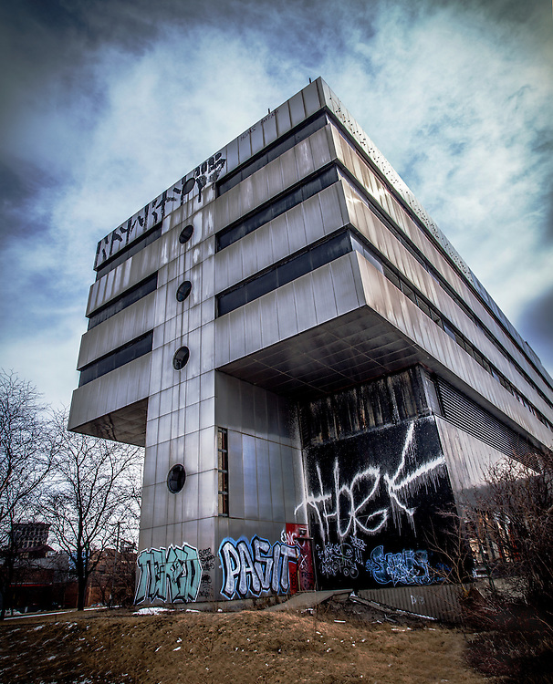 Abandoned United Community Hospital in Detroit, Michigan. March, 2014. Architectural design by Eberle M. Smith Associates.